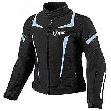 JET Chaqueta Moto Mujer Textil Impermeable con Armadura (3XL (ES 46-48), Azul)