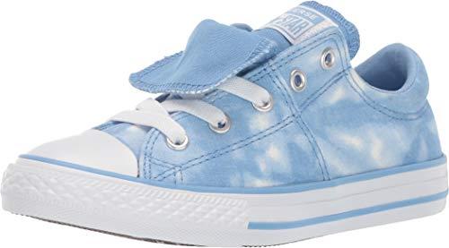 Converse Girls Kids' Chuck Taylor All Star Maddie Tie-Dye Slip On Sneaker Light Blue/White, 13 M US Little ()