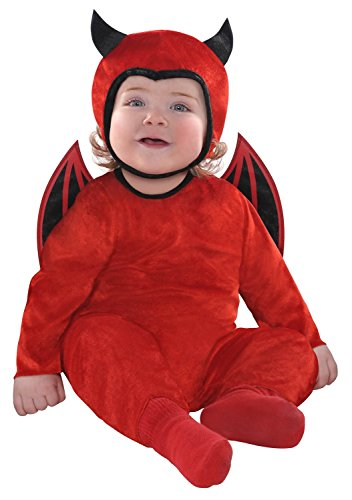 Cute as a Devil Halloween Costume (0-6 months) (Cute Scary Halloween Costumes)