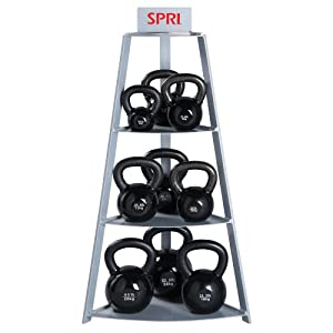 SPRI Steel Kettle Bell Storage Rack