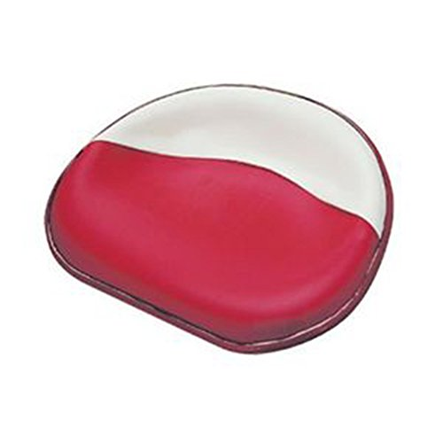 New Deluxe IH Farmall Pan Seat Red & White Upholstered 4 Bolt (Farmall Seat)