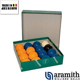 Billes Pool Aramith Jaune & Bleu 50,8 mm A112C