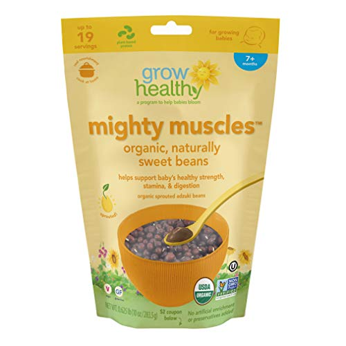 Mighty Muscles Organic, Naturally Sweet Beans | Helps support baby's healthy strength, stamina, & digestion | Sprouted, Organic, Vegan, Gluten free, No artificial enrichment or ()