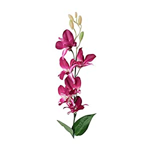 Connoworld--Artificial Fake Orchid Flower Plant Home Office Wedding Party Decor Ornament - Purple 13