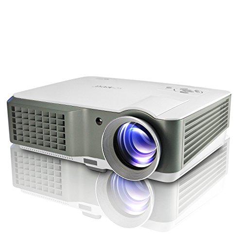 HD Beamer, EUG 760 LED Multimedia Heimkino Projektor 2500 Lumen Tragbare Unterstützt 1080P mit HDMI AV VGA USB Audio Kompatibel mit Telefon/ Laptop/ PC/ SD Karte/ Spielekonsole/ TV/ Xbox/ USB Disk für zu Hause Heimkino, Filmen, Spiele, Fotos, Hinterhof-Kino ( inklusive HDMI Kabel)