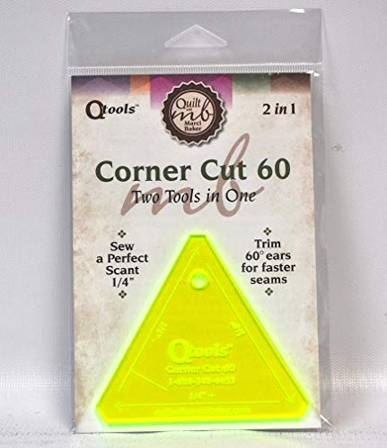 Alicia's Attic Qtools Corner Cut 60 deg. 2 In 1