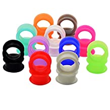 Longbeauty Silicone EAR PLUGS TUNNELS-EAR EXPANDER STRETCHING GAUGES in 2 Style