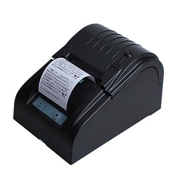BOYISEN ZJ-5890T Impresora Térmica Impresora Térmica de Recibos Rollos de Papel Térmico DE 58 mm 90mm/Sec, ESC/POS, Mini USB Portátil, Conpartible con ...