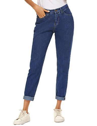 (ZHENWEI Women's Modern 5 Pockets Straight Leg)