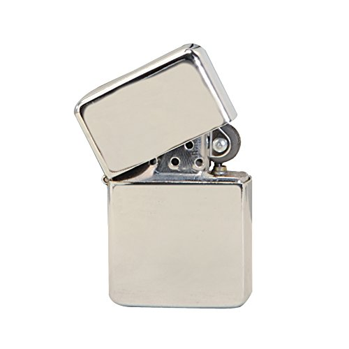 - Thirsty Rhino Klik, Windproof Refillable Oil Wick Lighter with Vintage Flip Top and Aluminum Gift Case (Silver)