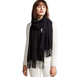 MaaMgic Womens Large Soft Cashmere Feel Pashmina Shawls Wraps Light Scarf