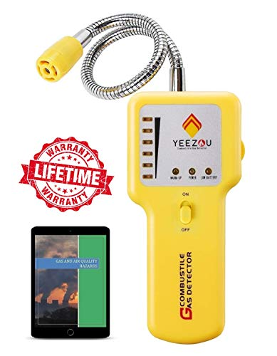 - Natural Gas Detector, Propane Gas Leak Detector, Gas Sniffer, Portable Combustible Explosive Gas Sensor, Tester: Methane, Butane, LPG, LNG; Sound & LED Warning, Flexible Sensor Neck; eBook