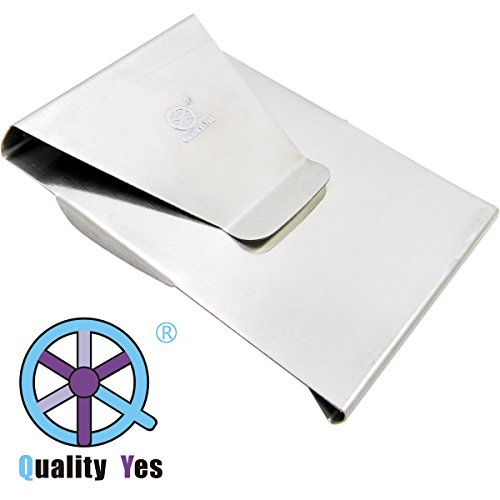QY Silver Color Stainless Steel Double Side Slim Money Clip