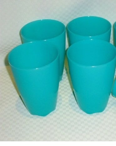 Tupperware Open House 18 Ounce Tumblers Aqua Set of 4