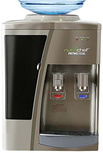 NutriChef AZPKTWC15SL Water Dispenser, Silver