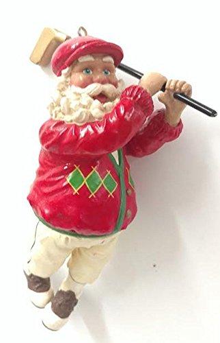 Golfing Santa Ornament 5.5 inches