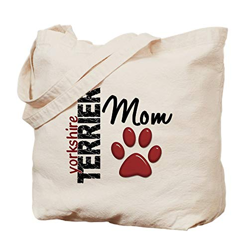 CafePress Yorkshire Terrier Mom 2 Natural Canvas Tote Bag, Cloth Shopping Bag