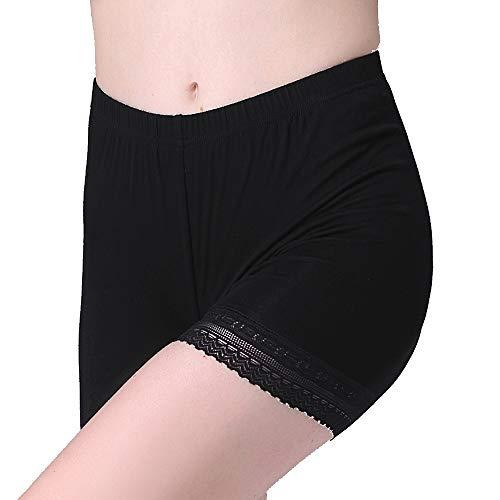Vinconie Women Underdress Shorts Knee Length Spandex Shorts Lace Leggings Short, Large / (14 16), Dark - Leggings Hem