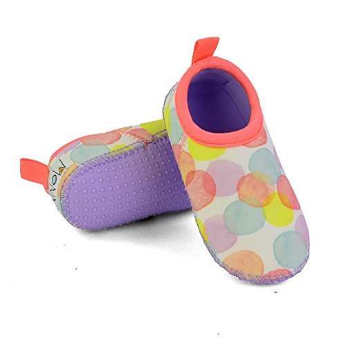 The ORIGINAL MINNOW DESIGNS Soft Sole Aqua Water Swim Shoes - Perfect Swimmable Socks for the beach, boat & water play (5, (Play Swim Socks)