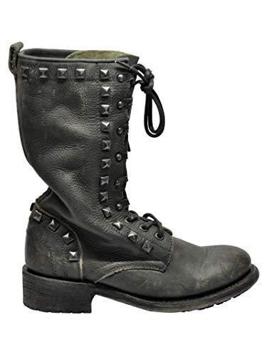 Mujer Rangoon04 Negro Zapatos Ash Cuero FqP5xywdp
