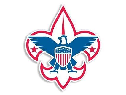 Amazoncom Boy Scouts Rwb Fleur De Lis Sticker Automotive