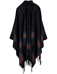 Poncho Capes with Hood Pashmina Cardigans Blanket Shawls with Tassels