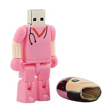 16GB Rosa enfermeras modelo memoria Stick pendrive unidad flash USB Pen Drive 8 GB pendrives tarjeta flash U disco USB unidad USB Flash Disk