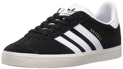 adidas Originals Boys' Gazelle C Sneaker, Black/White/Metallic Gold, 12.5 Medium US Little ()
