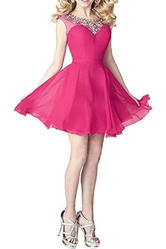 Kleider La mia Kleider Linie Pailletten A Cocktailkleider Partykleider Abendkleider Braut Chiffon Standsamt Pink Jugendweihe mit 0CBHrz0W