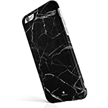 "iPhone 6 6s case marble, Akna® New Glamour Series Flexible Soft TPU cover with Fabulous Glossy Pattern for both iPhone 6 & iPhone 6s(4.7""iPhone)[Black Marble Texture](23-C.A)"