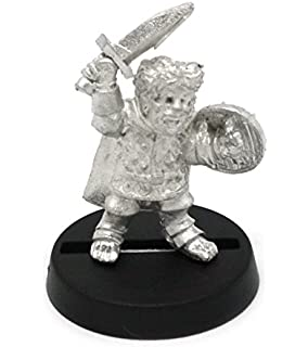 for 28mm Scale Table Top War Games Stonehaven Halfling Soldier with Beard Miniature Figure Made in USA