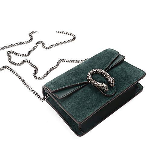Hombro de de las Bolso la de acolcha coreanas cadena cuero de la moda de que señoras las mujeres cruzadas Verde Bolso 5AOEwOq