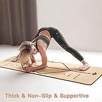 Homtiky Esterilla Yoga Antideslizante, Colchoneta Yoga de ...