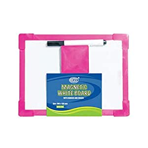 FIS Magnetic White Board with Plastic Frame - FSWBM3525W