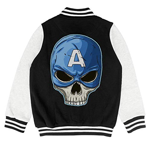 ONEYUAN Children Captain Skull Super Hero Kid Baseball Jackets Varsity Bomber Coat for Boys -