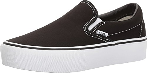 Vans Women's Classic Slip-On Platform Sneakers (7 Women/5.5 Men M US, (Platform) Black)