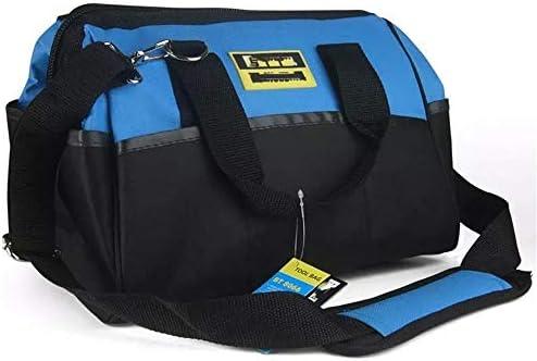 道具袋 防水広口キャンバス木工パワーツールバッグ、多機能工具収納ハンドバッグ ツール収納袋 (色 : 青, Size : 12inch)