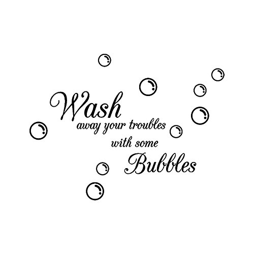 - EdC DIY Wash Bubbles Decorative Wall Stickers, Removable Wallpaper Lovely Wall Decoration Romantic Sweet Cute for Bathroom Living Room Nursery Kids Bedroom TV Wall Decal Home Art Vinyl Mural Decor