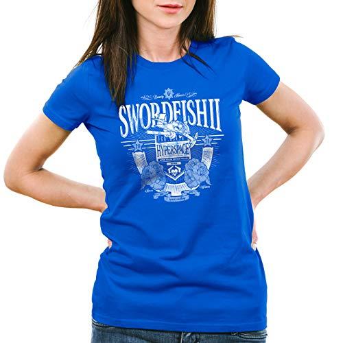 Hormiga Racer azul Anime Mujeres Mono Cowboy Bebop camiseta Hyperspace Swordfish wwOqTpa