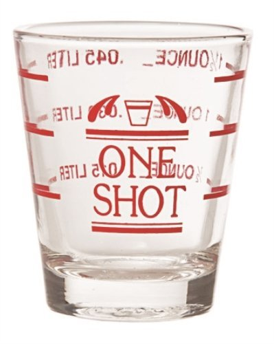 """Clear Glass Professional """"One Shot"""" Glass with Measurement L"""