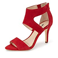 b56c7072c XYD Prom Dancing Shoes Elegant Open Toe Strappy Heeled Sandals Ankle Wrap  Dress Pumps For Women