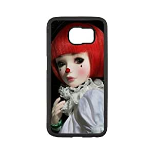 Diy Fashion Clown Phone Case for samsung galaxy s6 Black Shell Phone JFLIFE(TM) [Pattern-1]
