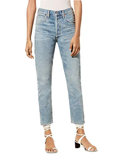 Citizens Humanity Of High Rise (Premium Vintage Dree - High-Rise Slim Straight Leg Cropped Jeans in Savana - Size 30)
