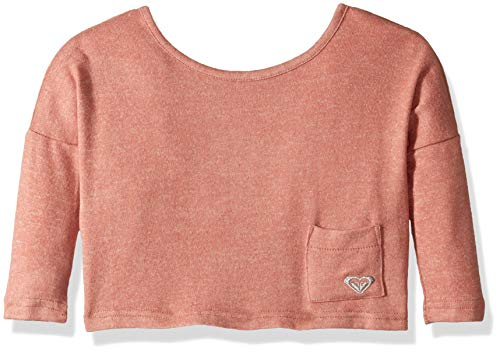 (Roxy Girls Little Time TW Cozy Long Sleeve Top, Desert Sand Heather, 3)