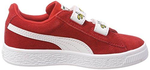 Puma Minions Suede V PS, Zapatillas Unisex Niños Rojo (High Risk Red-puma White)