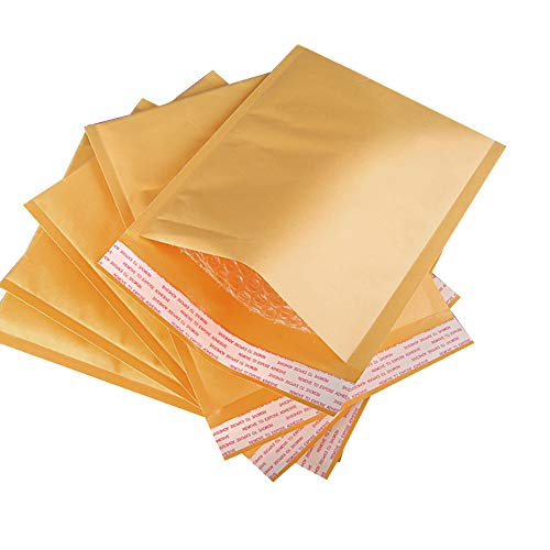 Dazone Kraft Bubble Mailers, 0 Padded Envelopes Large Shipping Bags Mailer Seals 6.5
