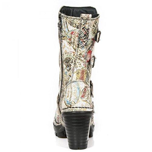 Nuevas Botas De Rock M.neotr025-c2 Gótico Del Punk Hardrock Damen Stiefel De Color Beige Precio muy barato P46lTo
