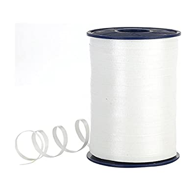 Adorox 500 Yards White Curling Ribbon Gift Wrap Stationary Birthday Party Supply Decoration