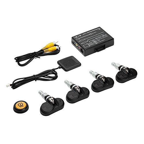STEELMATE TP-05 Tire Pressure Monitoring System TPMS in-Dash A/V Monitor Remote Button 4 Professional Internal Sensors