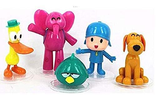 - Rutong Pocoyo 5 PCS Action Figures PVC Elly Pato Loula Cake Topper Playset Dolls Kids Toys